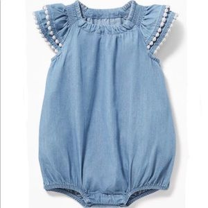 Old Navy 12-18 Month Chambray Bubble Romper